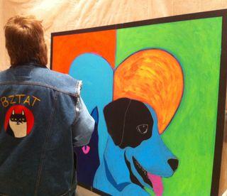 Vicki Boatright aka BZTAT with Dialogues Mural