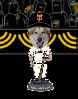 Grouchy Puppy is Giants Fan!